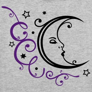 Feminine moon with ornament and stars. - Women's Hoodie