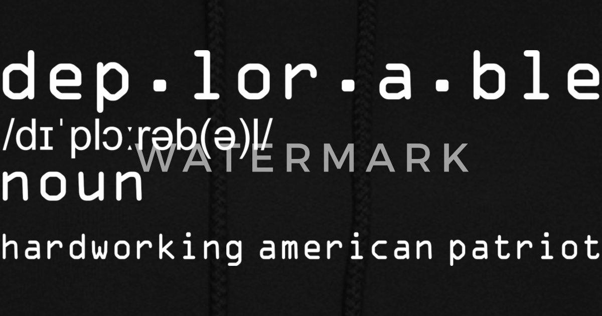 Deplorable Definition Hardworking American Patriot Women's ...