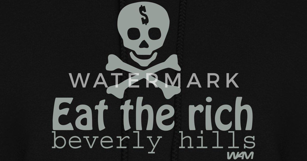 b71064d136d eat the rich by wam Women s Hoodie
