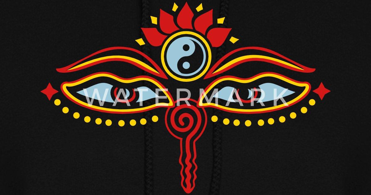 Buddha Eyes Lotus Yin Yang Wisdom Enlightenment By Yuma Spreadshirt