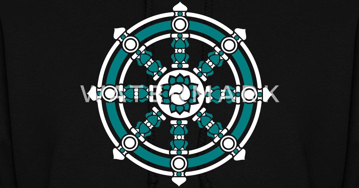Dharmachakra Darma Wheel Of Law Buddhist Symbol By Yuma Spreadshirt