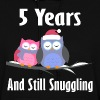 5 Year Anniversary Owl Couple - Women's Hoodie