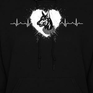 Doberman Pinscher Heartbeat Shirts - Women's Hoodie