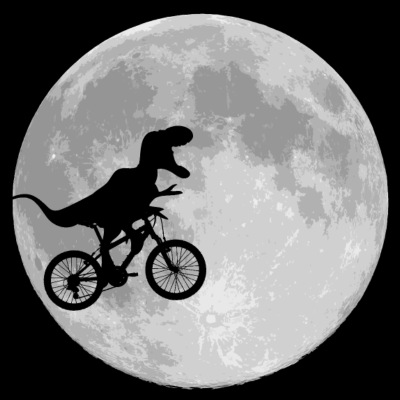 Dinosaur Bike and MOON