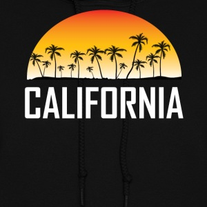 California Sunset And Palm Trees Beach Vacation - Women's Hoodie