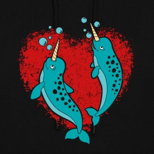 NARWHAL COUPLE SHIRT - Women's Hoodie
