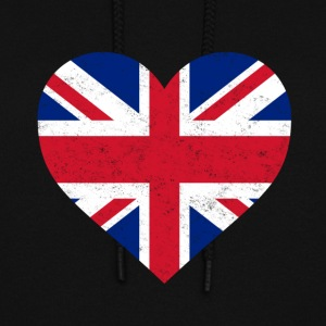 UK Flag Shirt Heart - Brittish Shirt - Women's Hoodie