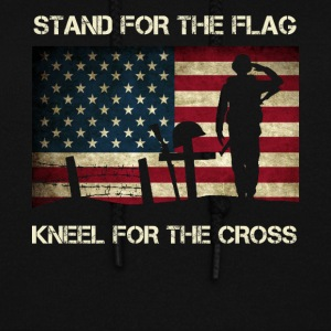 US Military Stand For The Flag Kneel For The Cross - Women's Hoodie