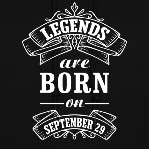 Legends are born on September 29 - Women's Hoodie