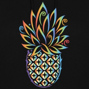 Pineapple, summer, rainbow tattoo style - Women's Hoodie