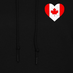 Canada Flag Shirt Heart - Canadian Shirt - Women's Hoodie