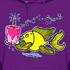 Birthday fish, Fish With Cake and Candle, By FabSpark - Women's Hoodie