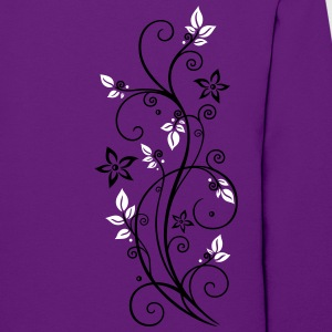Filigree tendril with leaves and flowers. - Women's Hoodie