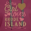 This Girl Loves Rhode Island - Women's Premium Hoodie