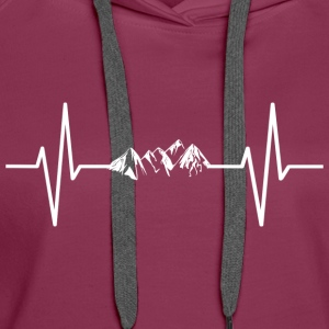 My heart beats for mountains! gift - Women's Premium Hoodie
