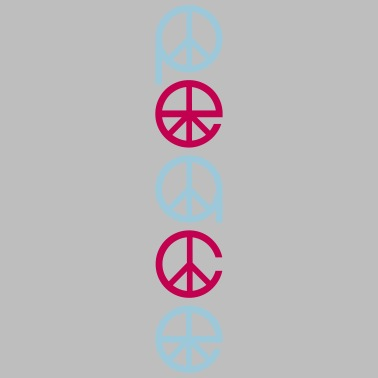 vertical text peace sign symbol peace war hippie l Women's