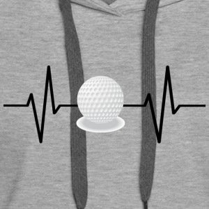 My heart beats for golf! gift - Women's Premium Hoodie
