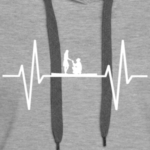 My heart beats for marrying! gift - Women's Premium Hoodie