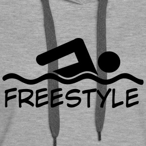 freestyle swimming - Women's Premium Hoodie