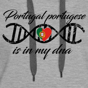 love my dns dna land country Portugal portugese - Women's Premium Hoodie