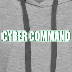 Cyber Command by Basement Mastermind Hacking T S - Women's Premium Hoodie