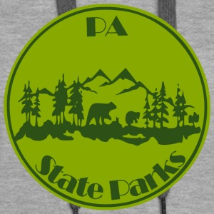 PA State Parks Bear Green - Women's Premium Hoodie
