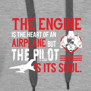The Engine Is The Heart Of An Airplane T Shirt - Women's Premium Hoodie