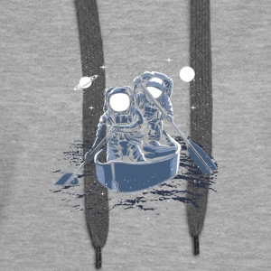 Astronauts rowing in space! Welcome to galaxy. - Women's Premium Hoodie
