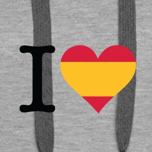 I Love Spain - Women's Premium Hoodie