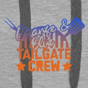 orange blue tailgate crew - Women's Premium Hoodie