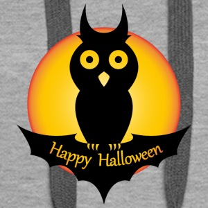 Halloween. Moon. Bat. Fly. Owl. Night. October.Oct - Women's Premium Hoodie