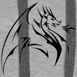 Shape Chinese Dragon logo vector image tatoo cool - Women's Premium Hoodie