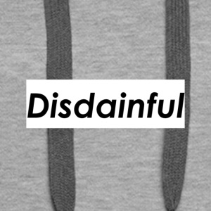 Distainful black letters - Women's Premium Hoodie