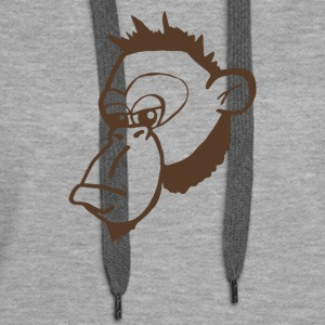 Funny Monkey Face T Shirt - Women's Premium Hoodie