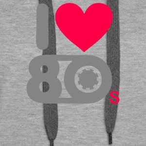 I Heart 80s Party Nostalgic - Women's Premium Hoodie