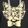 Cat with bow tie - Women's Premium Hoodie