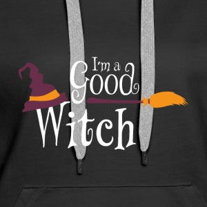 Halloween I'm a Good Witch Gift Tee - Women's Premium Hoodie