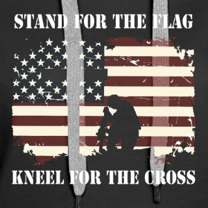 Stand For The Flag Kneel For The Cross - Women's Premium Hoodie