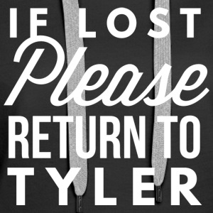If lost please return to Tyler - Women's Premium Hoodie