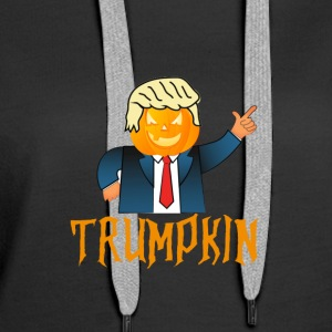 Trump and halloween 2017 Design shirt - Women's Premium Hoodie