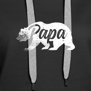 Papa Bear Father's Day - Women's Premium Hoodie