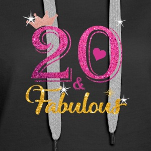 20 Fabulous Queen Shirt 20th Birthday Gifts - Women's Premium Hoodie
