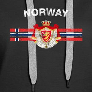 Norwegian Flag Shirt - Norwegian Emblem & Norway F - Women's Premium Hoodie