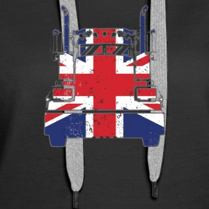 British Trucker Shirt United Kingdom Union Jack Flag - Women's Premium Hoodie