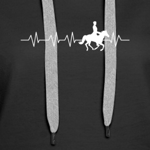 Heart beat for horse riding - Women's Premium Hoodie