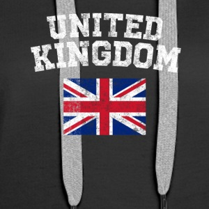 British Flag Shirt - Vintage United Kingdom T-Shir - Women's Premium Hoodie