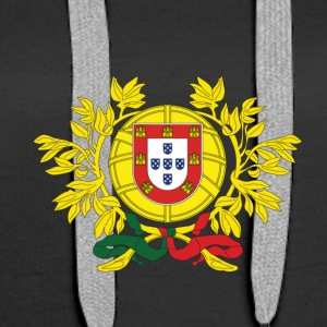 National Coat Of Arms Of Portugal - Women's Premium Hoodie