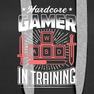 Hardcore Gamer in training - Women's Premium Hoodie