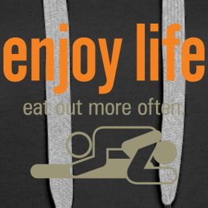 Enjoy Life. Eat Out More Often! - Women's Premium Hoodie