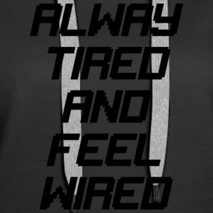 tired wired - Women's Premium Hoodie